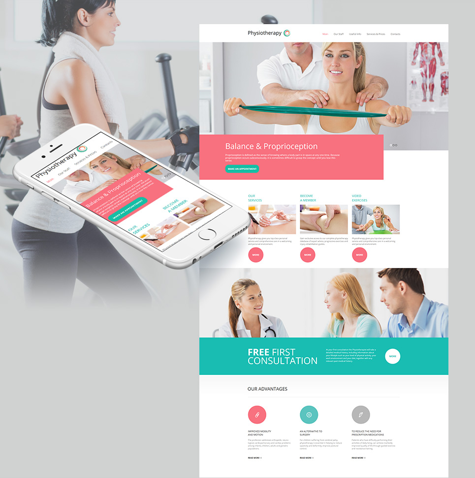 Physiotherapy html HTML Website Template - image