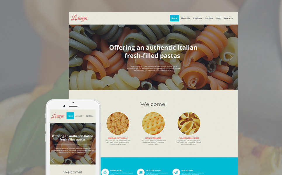 Szablon Moto CMS HTML #59079 na temat: jedzenie i napoje New Screenshots BIG