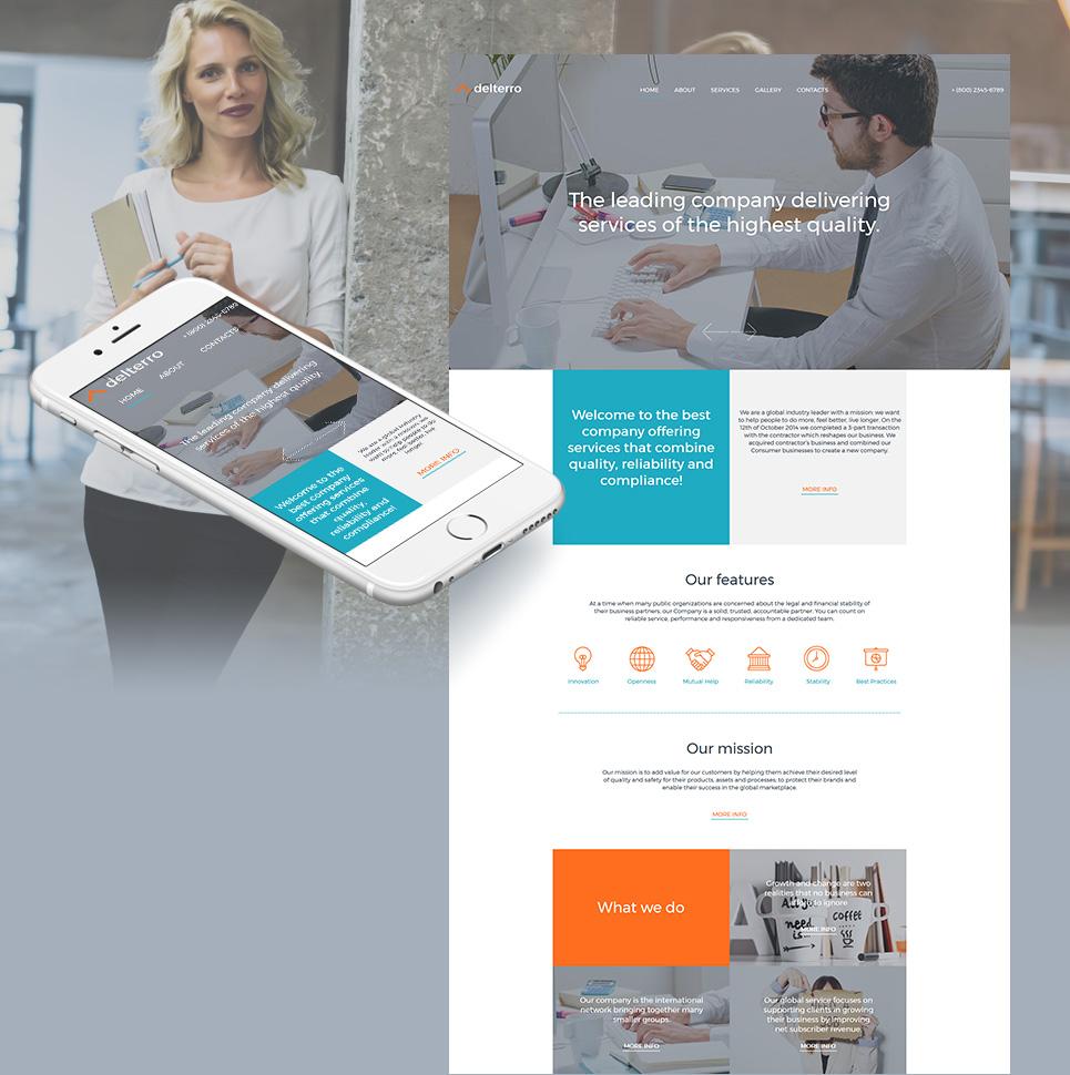 Delterro html HTML Website Template - image