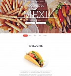 Cafe & Restaurant Moto CMS HTML  Template 59081