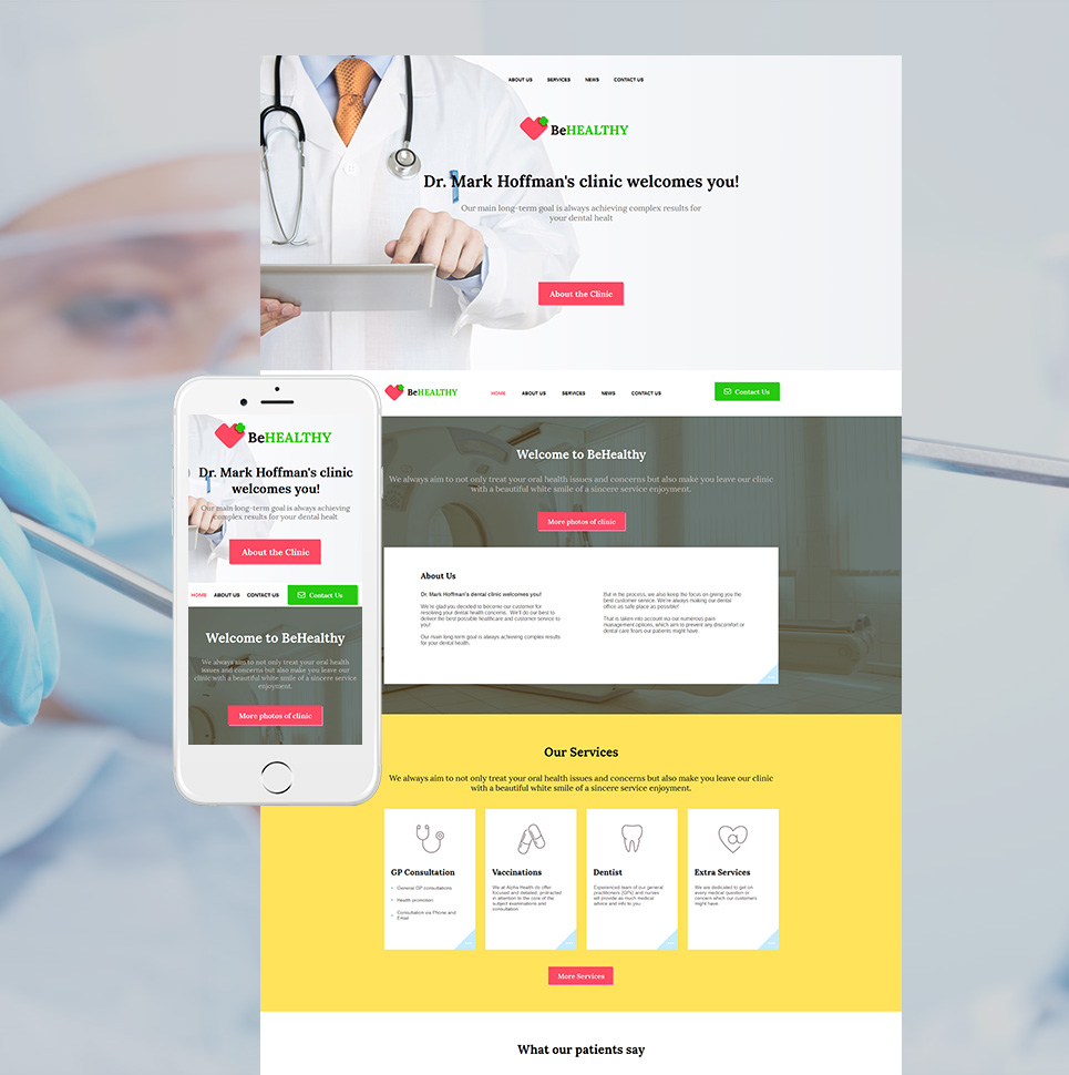 BeHealthy html HTML Website Template - image