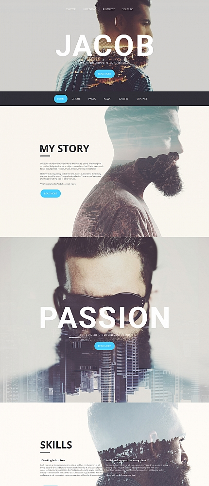 ADOBE Photoshop Template 59084 Home Page Screenshot