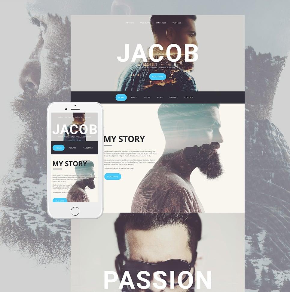 Jacob html HTML Website Template - image