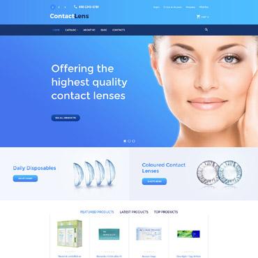Купить Адаптивный шаблон интернет-магазина контактных линз на VirtueMart . Купить шаблон #59085 и создать сайт.