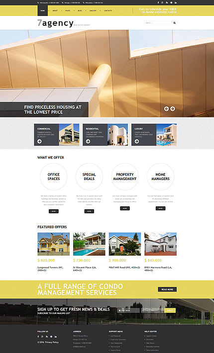 Joomla Theme/Template 59092 Main Page Screenshot