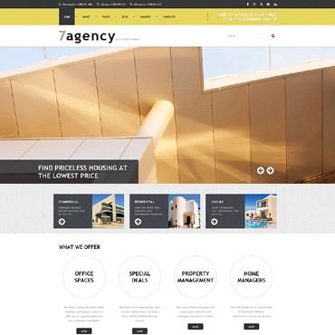 Купить Joomla шаблон сайта агентства недвижимости. Купить шаблон #59092 и создать сайт.