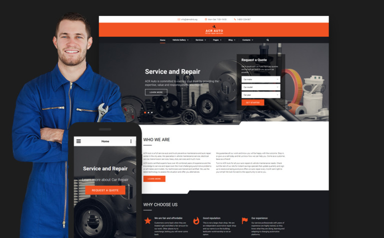 ACR Auto Website Template New Screenshots BIG