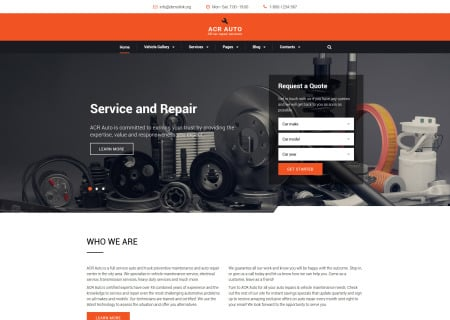 car repair site template