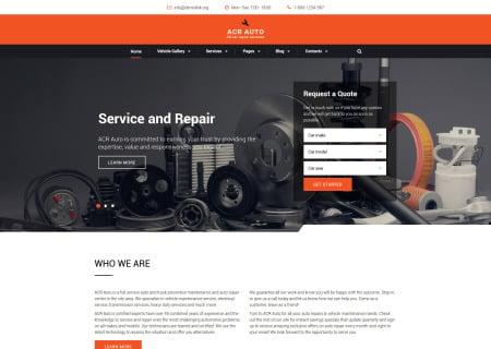 car repair site template
