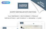 Адаптивный Shopify шаблон №59042 на тему мебель