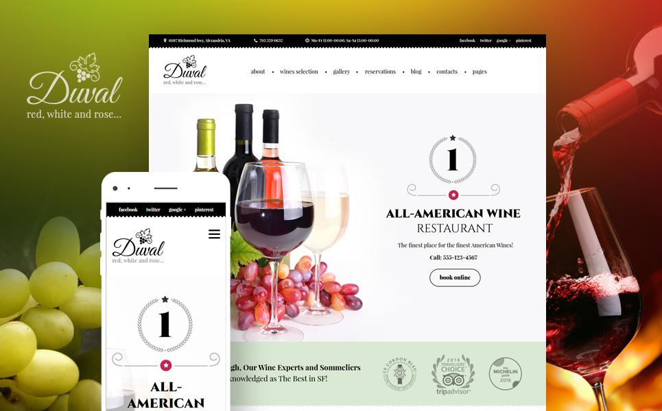 Адаптивный шаблон сайта на тему вино #59007