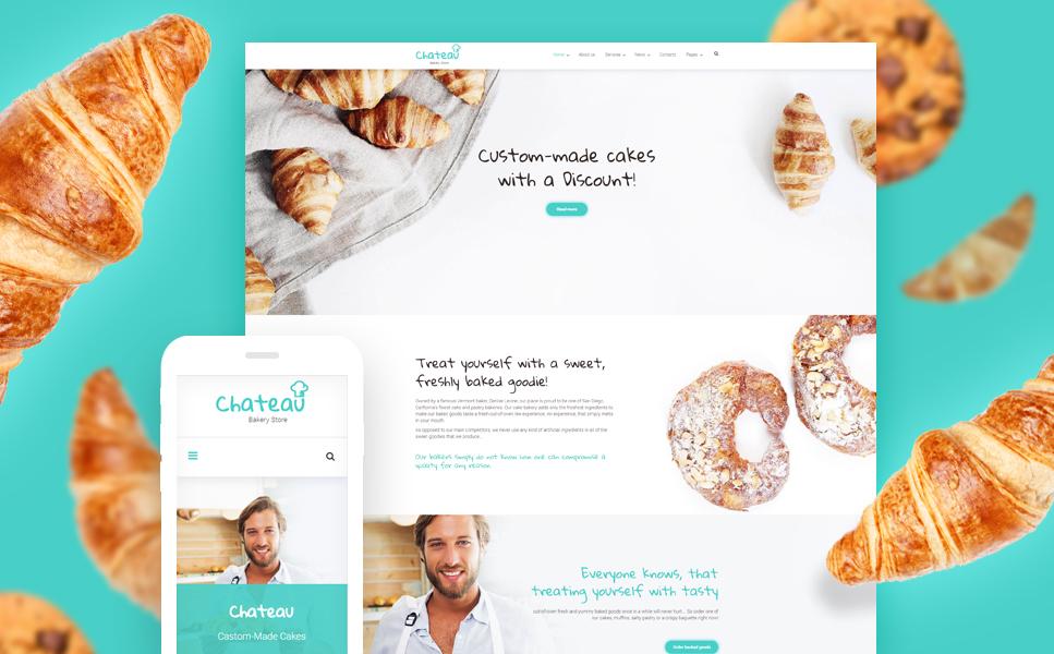 Адаптивный шаблон сайта на тему хлебобулочные изделия #59016