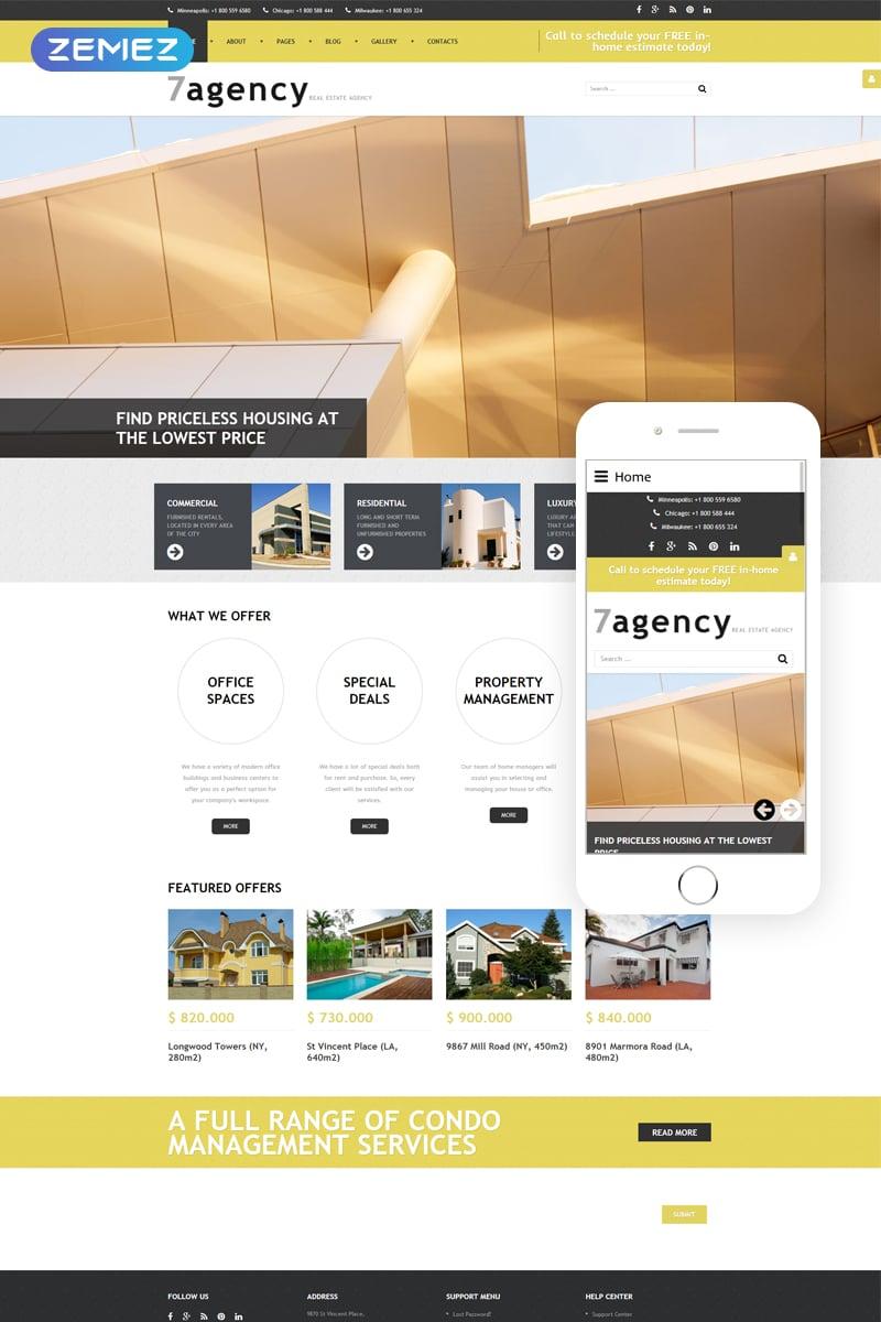 7agency - Real Estate Agency Modern Joomla Template