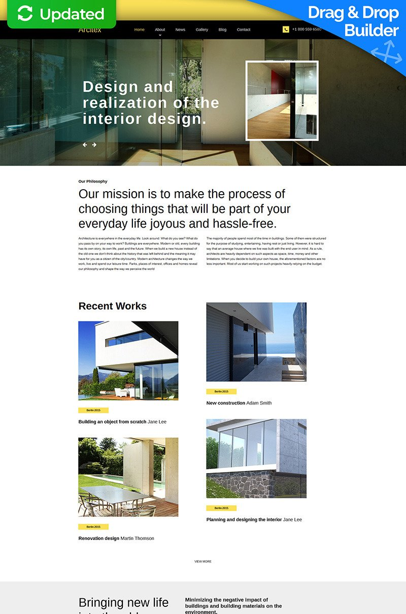 Plain Architecture Design Template Responsive Wordpress Theme In Decor