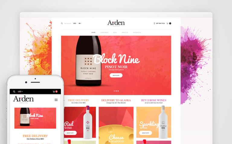 Arden - Wine And Food Online Store WooCommerce Theme New Screenshots BIG