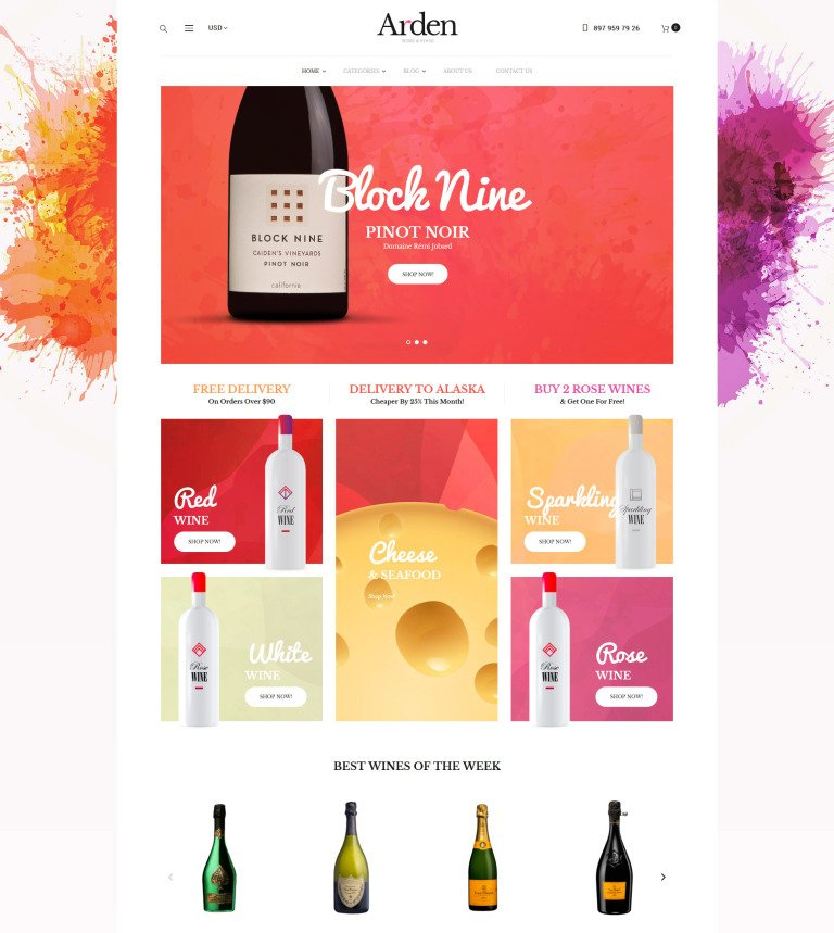 Wine Club WooCommerce Theme - Microsoft word invoice templates best online wine store