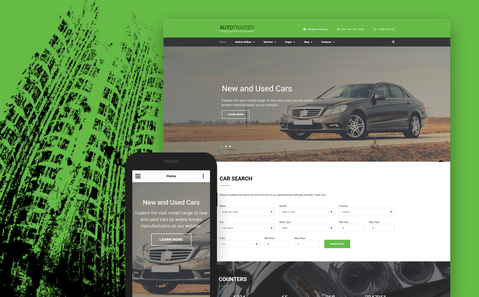 Demo Preview for AutoTrader Website Template #59051