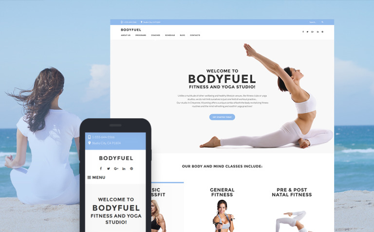 BodyFuel - Fitness & Yoga WordPress Theme New Screenshots BIG