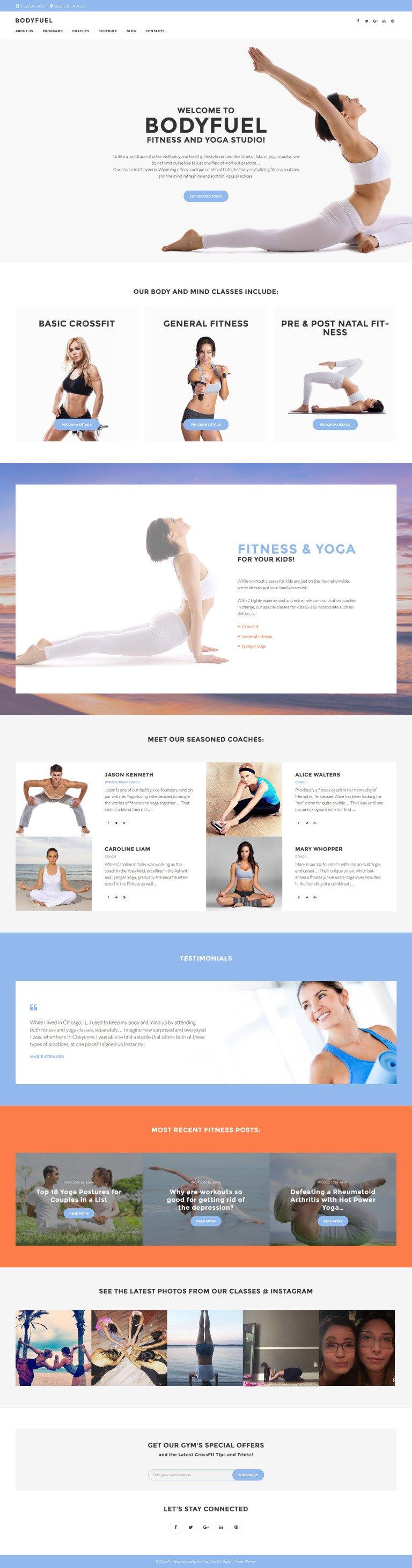 BodyFuel - Fitness & Yoga WordPress Theme New Screenshots BIG