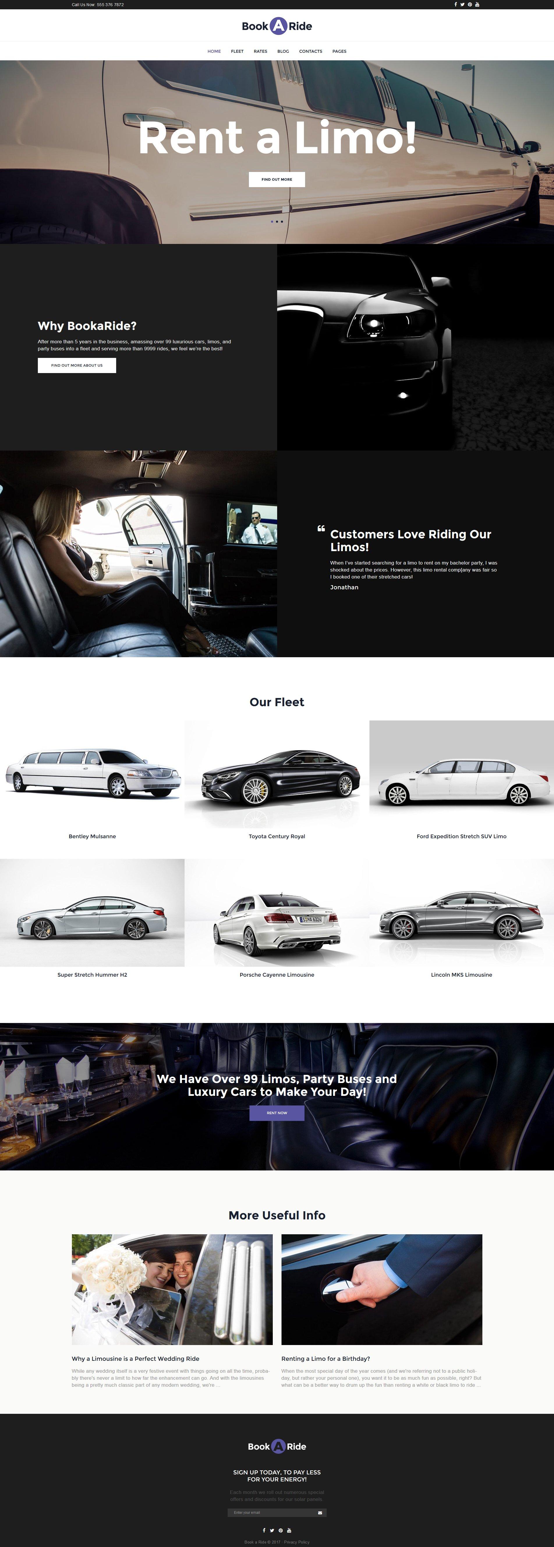 Limousine Rental Wordpress Theme