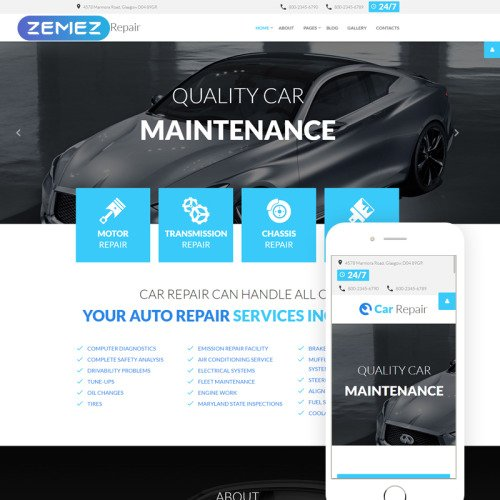 Car Repair - Joomla! Template based on Bootstrap