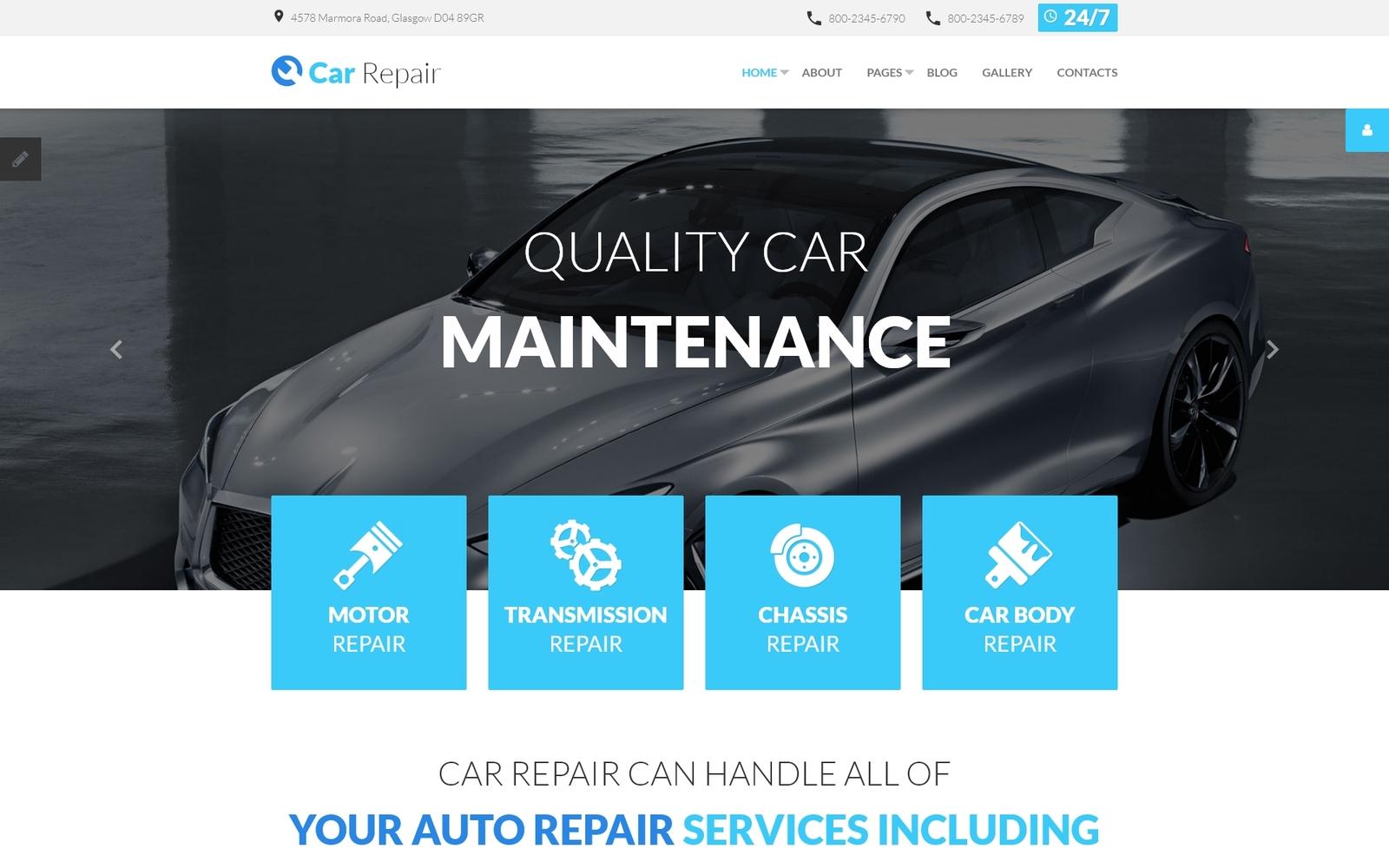 """""""Car Repair"""" Responsive Joomla Template №59094"""