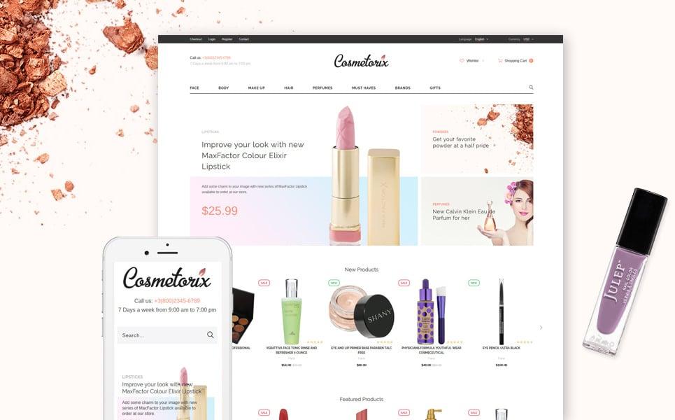 Cosmetorix - Responsive Cosmetics Store OpenCart template + RTL New Screenshots BIG