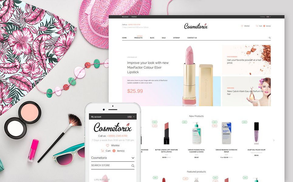 free shopify templates beauty supply store shopify theme