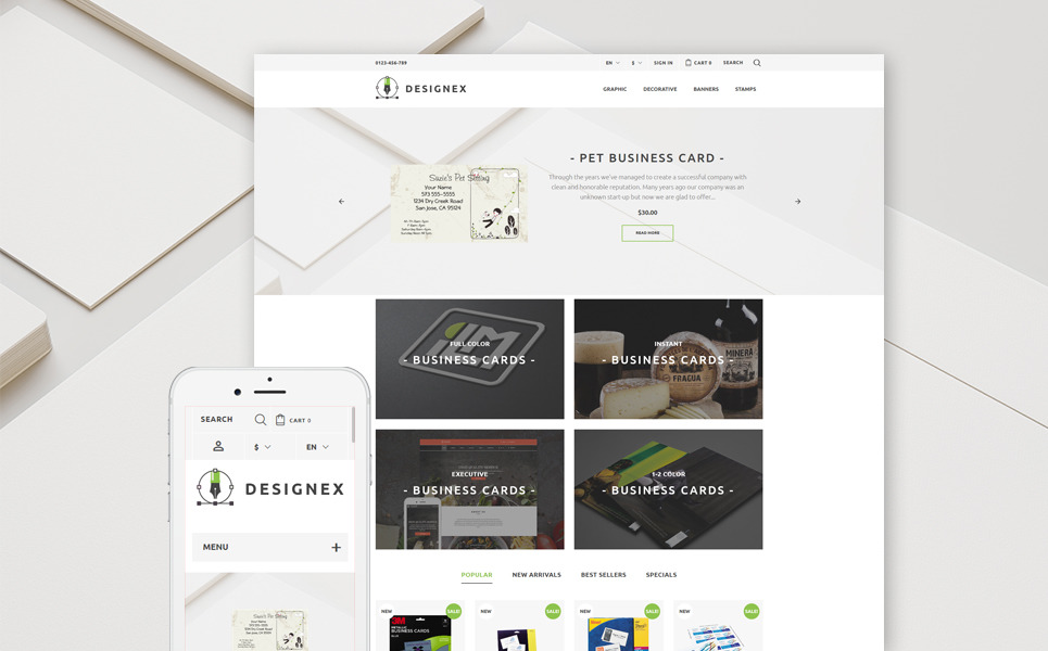 Designex - Corporate design PrestaShop Theme New Screenshots BIG