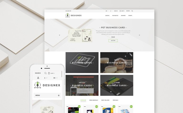 Designex - Corporate design PrestaShop Theme