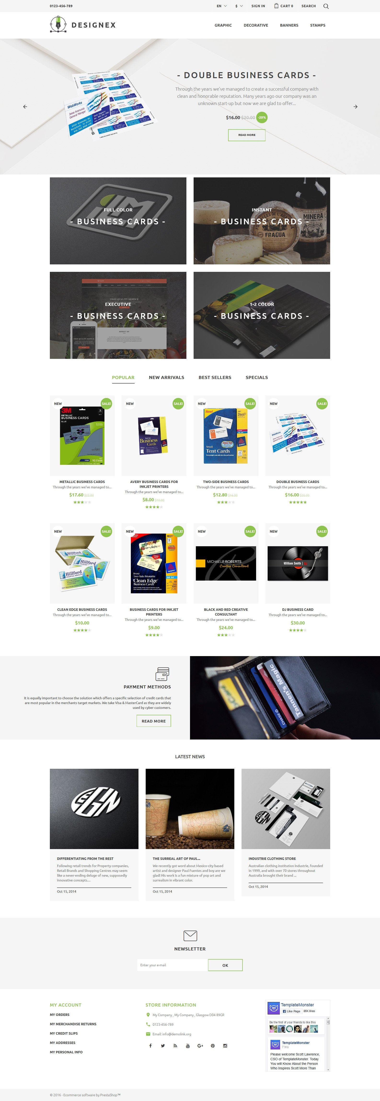 Designex - Corporate design PrestaShop Theme - screenshot