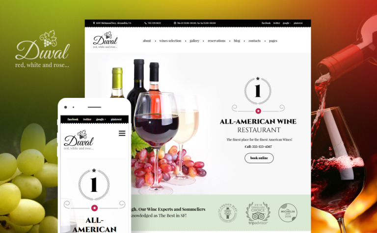 Duval - Wine Restaurant WordPress Theme