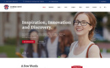 Egyetem reszponzív weboldal sablon