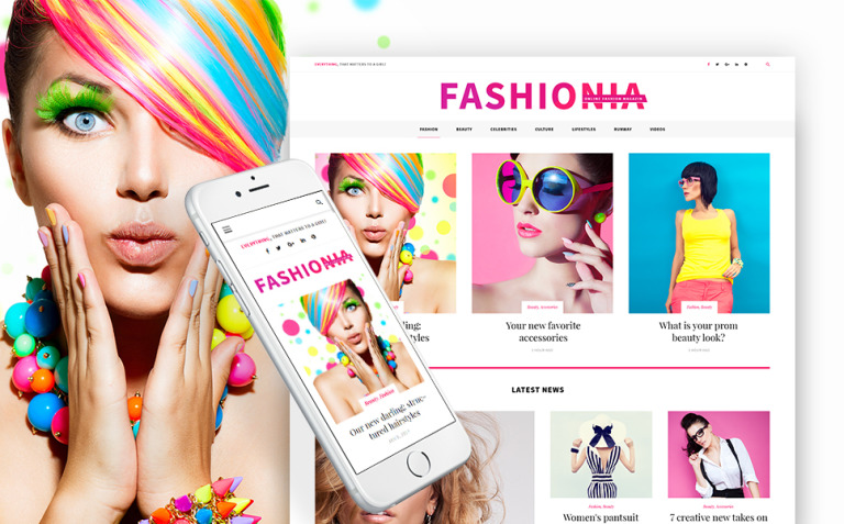 Fashionia - Online Fashion Magazine Responsive WordPress Theme New Screenshots BIG
