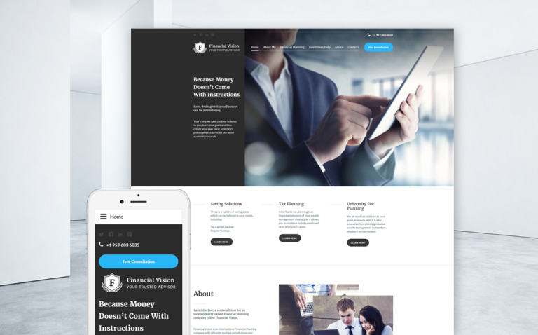 Financial Advision Joomla Template New Screenshots BIG