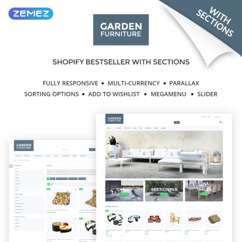 Garden Furniture - Shopify Template based on Bootstrap