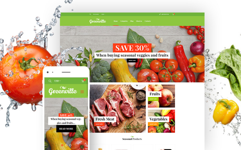Greenville - Organic Food Restaurant WooCommerce Theme New Screenshots BIG
