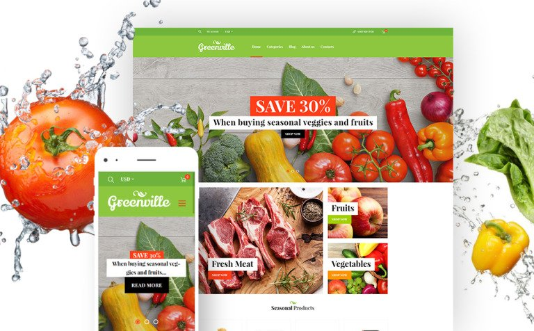 Greenville - Organic Food Restaurant WooCommerce Theme