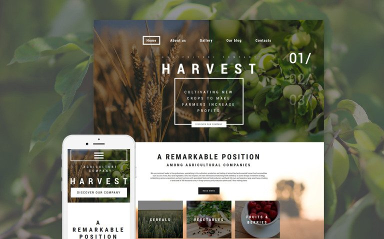 Harvest WordPress Theme New Screenshots BIG