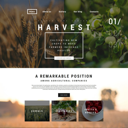 Harvest - Responsive WordPress Template