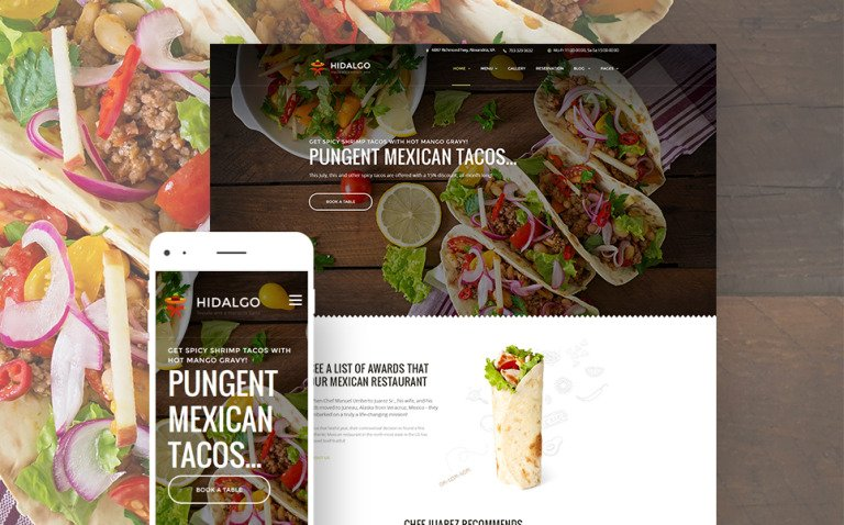 Hidalgo - Mexican Food Restaurant WordPress Theme New Screenshots BIG