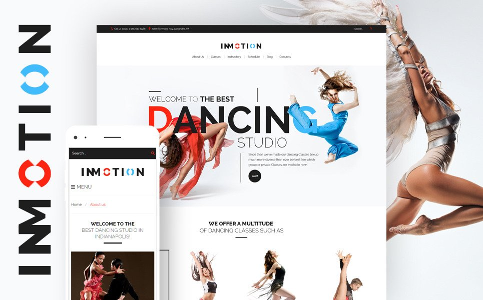 InMotion - Dance School WordPress Theme New Screenshots BIG