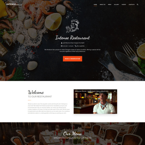 Intense Restaurant - Website Template based on Bootstrap