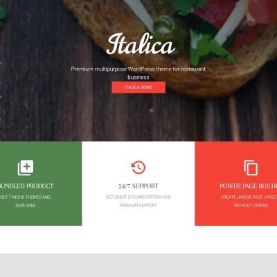 Italica - multipurpose restaurant WordPress theme with 6 skins #59008