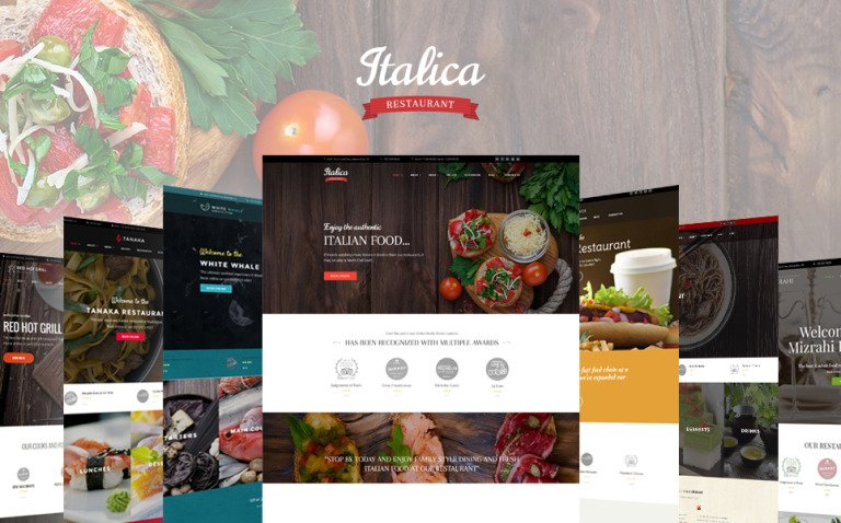 Italica - multipurpose restaurant WordPress theme with 6 skins New Screenshots BIG