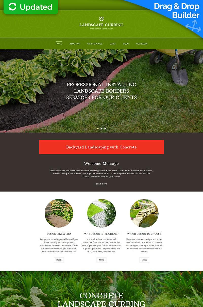 Landscape Design Responsive Moto CMS 3 Template