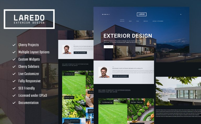 Laredo - Exterior Design Company WordPress Theme New Screenshots BIG