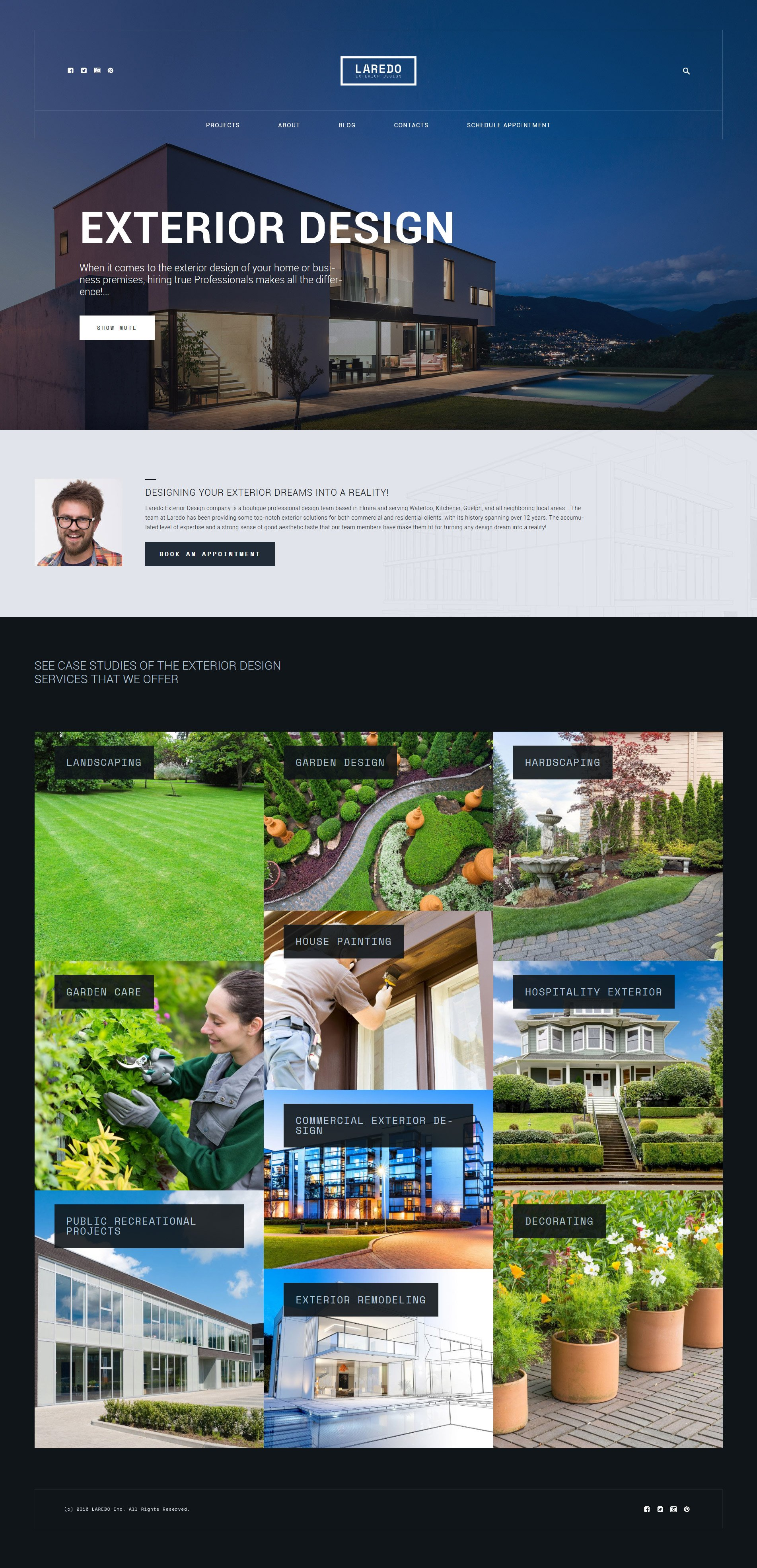 Laredo - Exterior Design Company WordPress Theme