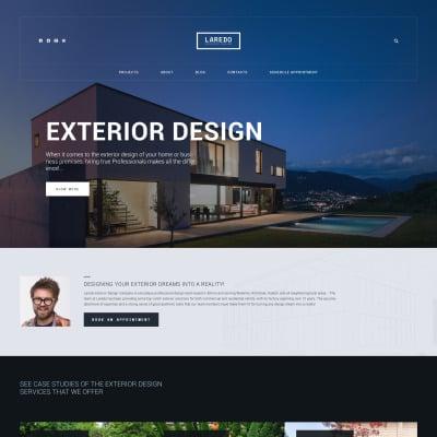 Design templates templatemonster for Exterior design templates
