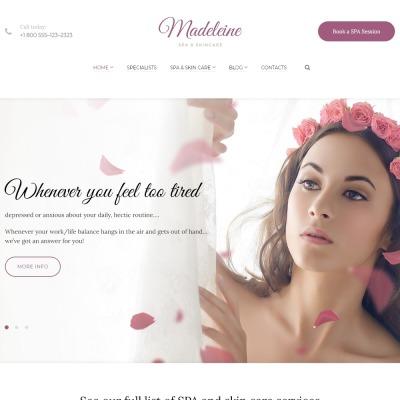 Madeleine - Spa Health & Skincare WordPress Theme WordPress Theme #59014